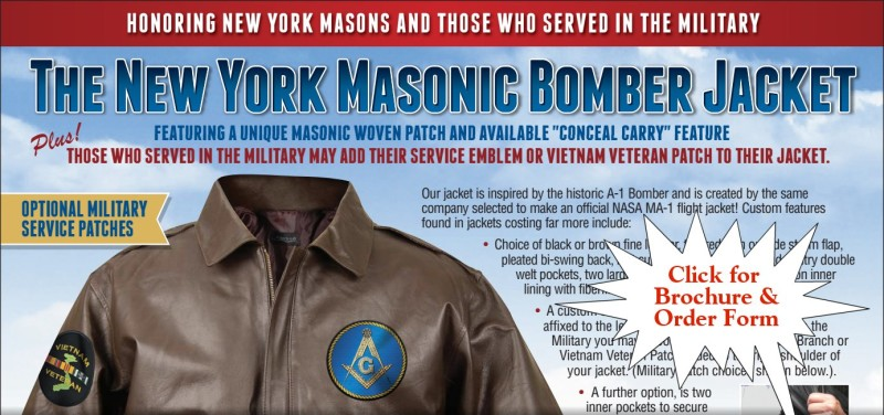 New York Masonic Bomber Jacket - Click Here