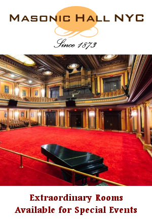 Masonic Hall NYC - Extraordinary Rooms for Special Events