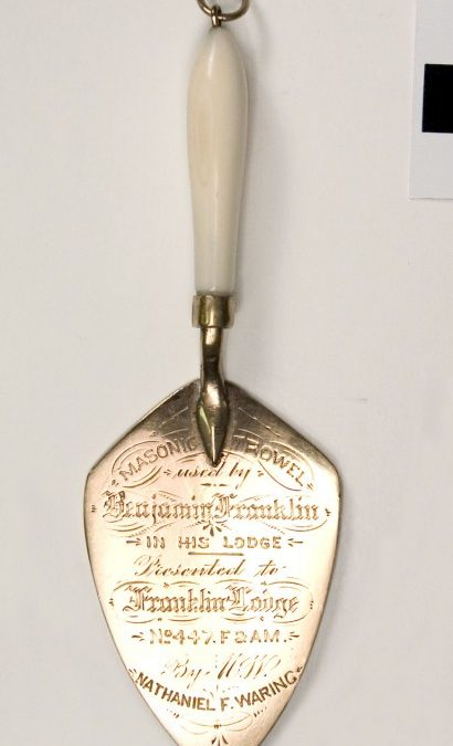 Benjamin Franklin Miniature Gold and Ivory Trowel
